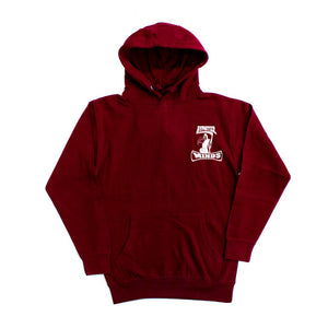 "Hypnotize Minds Front and back ""Hoodie"" Burgundy"