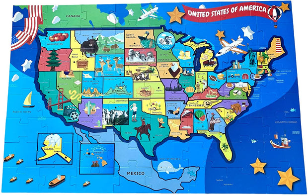 US MAP and STATE Birds Jumbo Puzzle