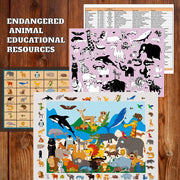 Endangered Animal Jumbo Floor Puzzle