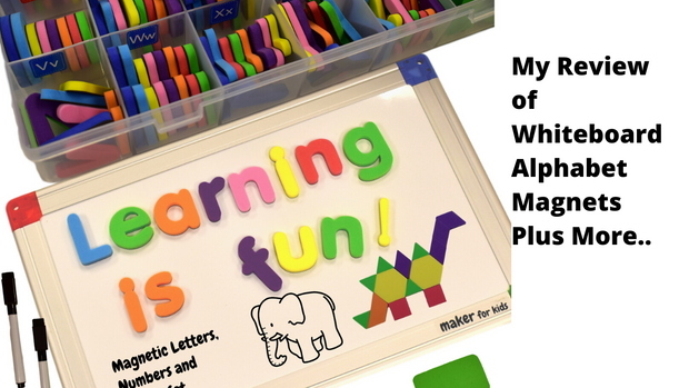Alpha 1 Whiteboard, Letters, numbers and Shapes Magnets