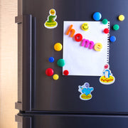 Alpha 2 whiteboard with alphabet, shape and picture magnets