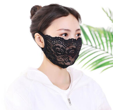 Women's lace breathable masks - Lovemywigs