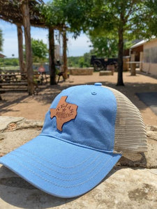 Tejas Hat with Leather Patch Columbia Blue/Tan