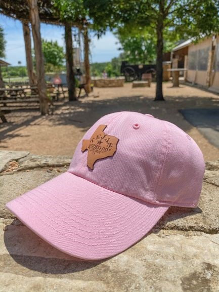 Tejas Hat with Leather Patch Light Pink