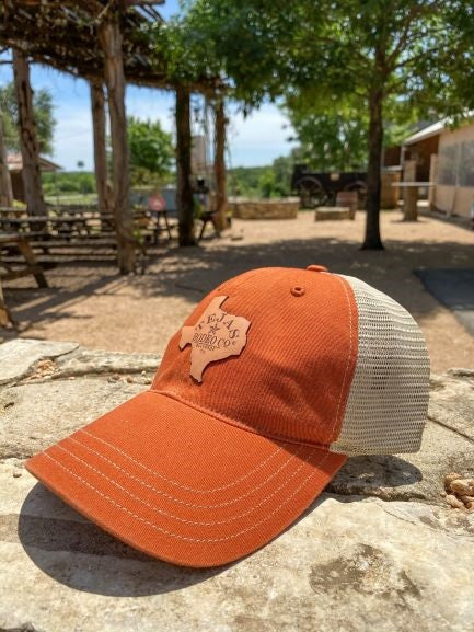 Tejas Hat with Leather Patch Orange/Tan