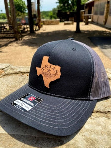 Tejas Hat with Leather Patch Black/Grey