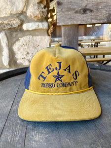 Tejas Corduroy Hat - Gold/Navy