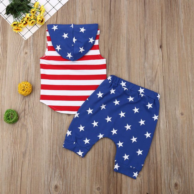 US Flag Print Clothes