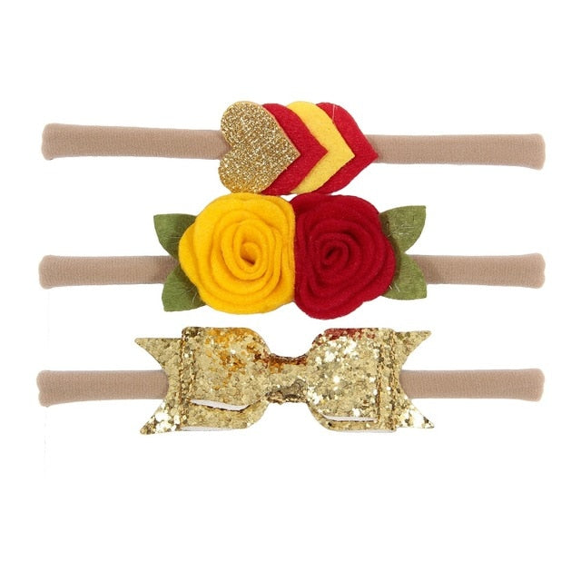 3pcs/lot  Floral Headband