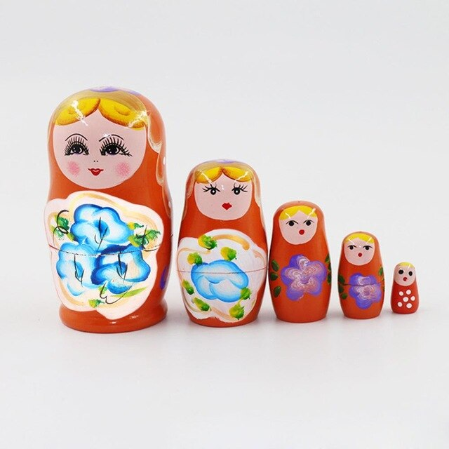 23 Styles 5/10pcs/set Cute Wood Russian Nesting Babushka
