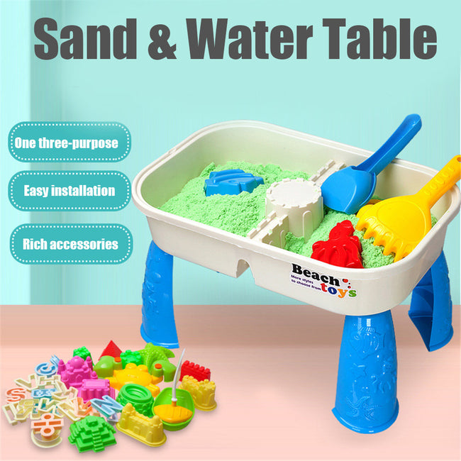 Sand & Water Table Outdoor Garden Sandbox Set Play Table Kids Summer Beach Toy
