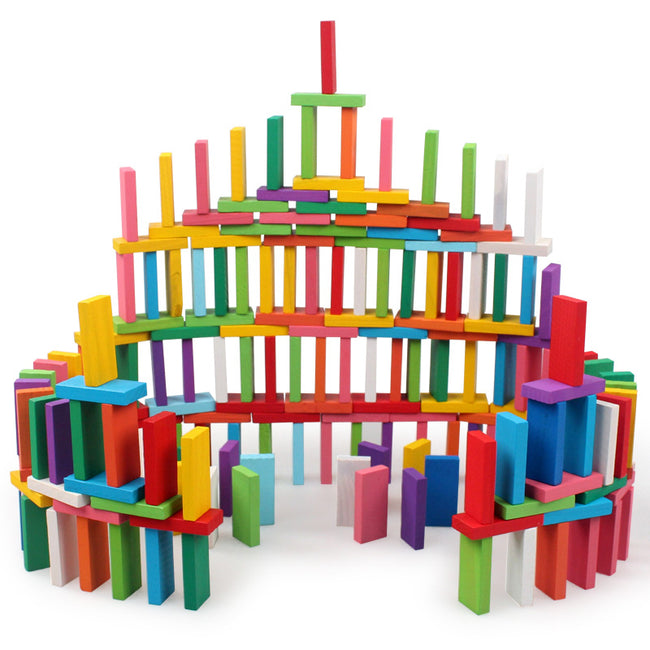 120pcs/set Domino  Wooden Blocks