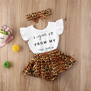 Letter Bodysuit and Leopard Shorts