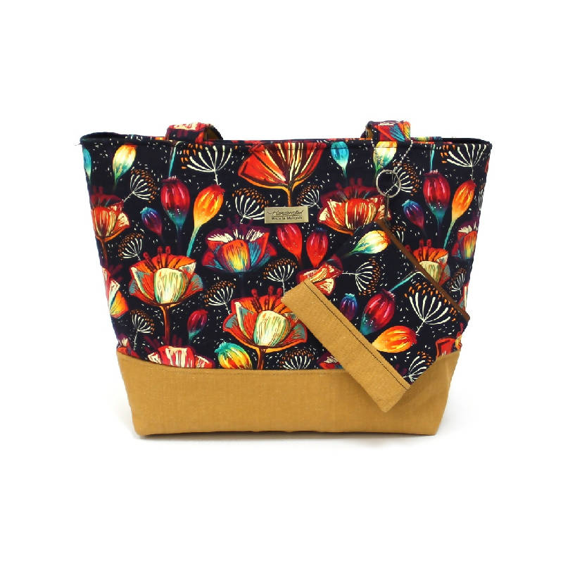 Flora Tote Bag With Coin Pouch