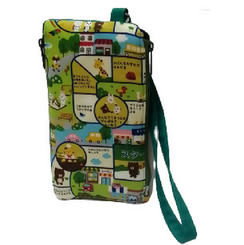 Wristlet/Handphone pouch(Japanese gameboard )