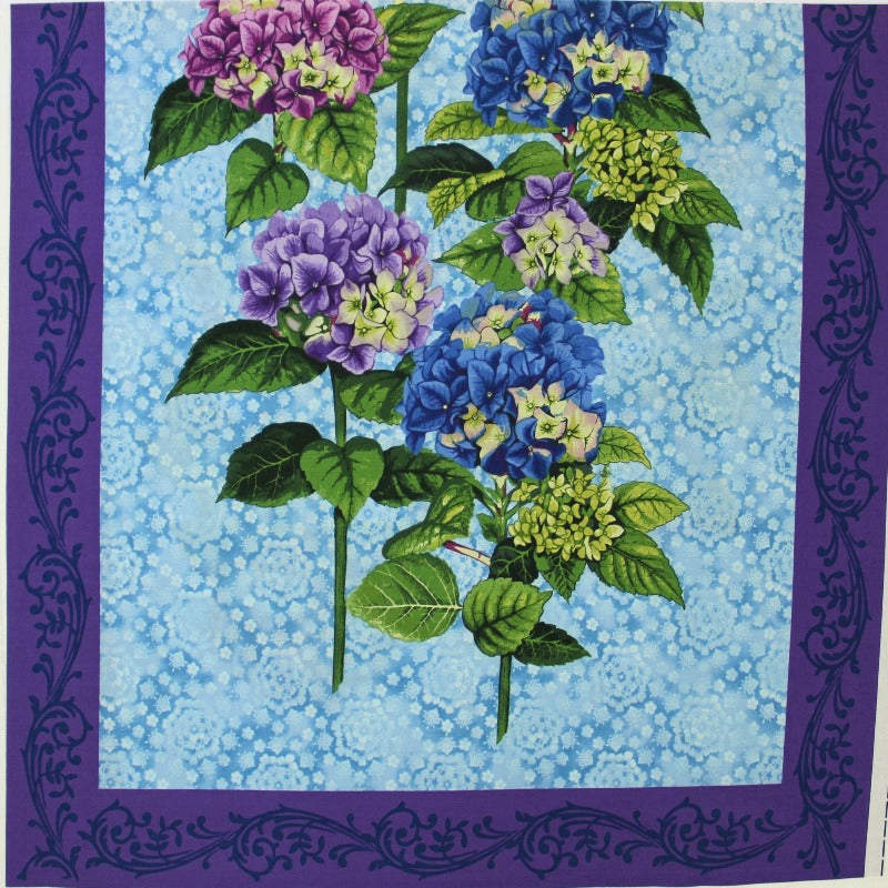 "Panel Fabric - Budding Beauties- (24""x24"")"