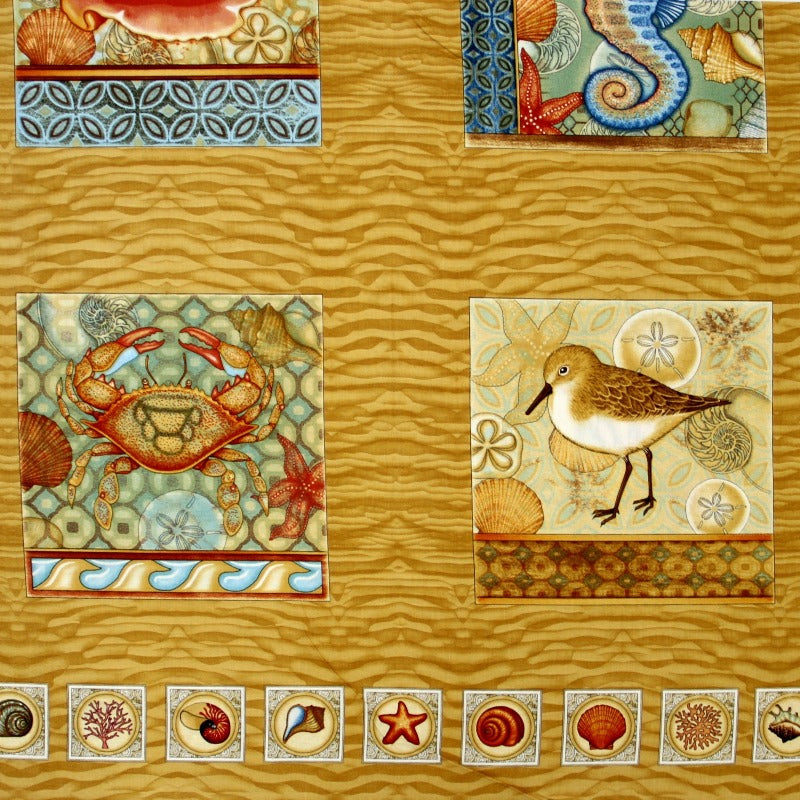 Panel Fabric -Dan Morris A Shore Thing- 1 Panel