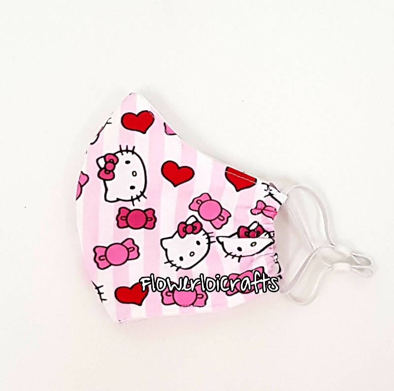 Children Fabric Face Mask (Hello Kitty)