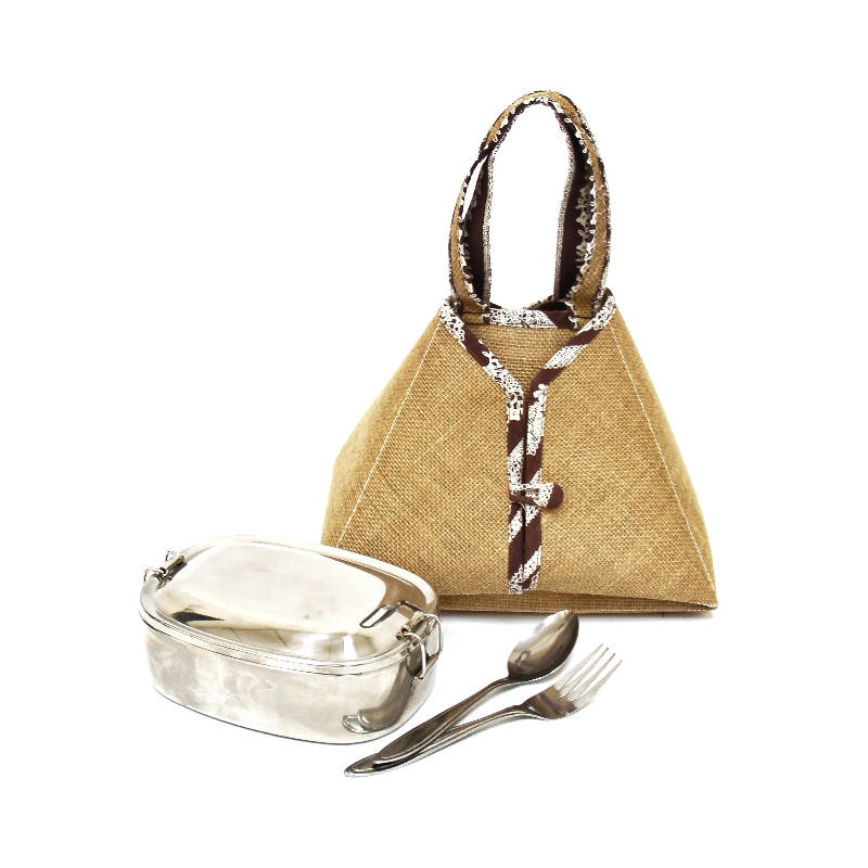 Jute food carrier (small)