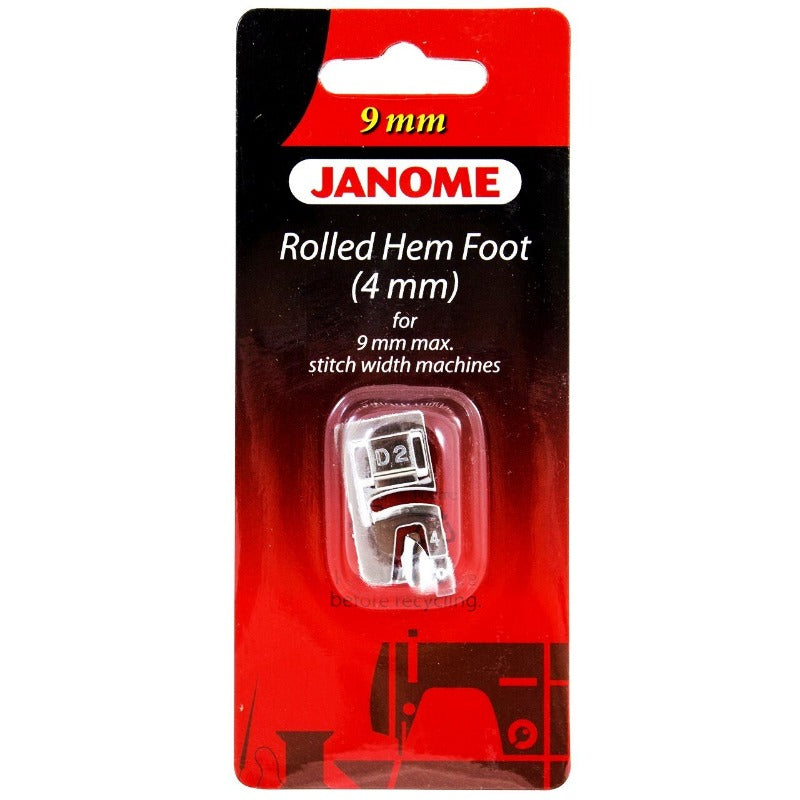 Janome 9 mm Rolled Hem Foot (4 mm)