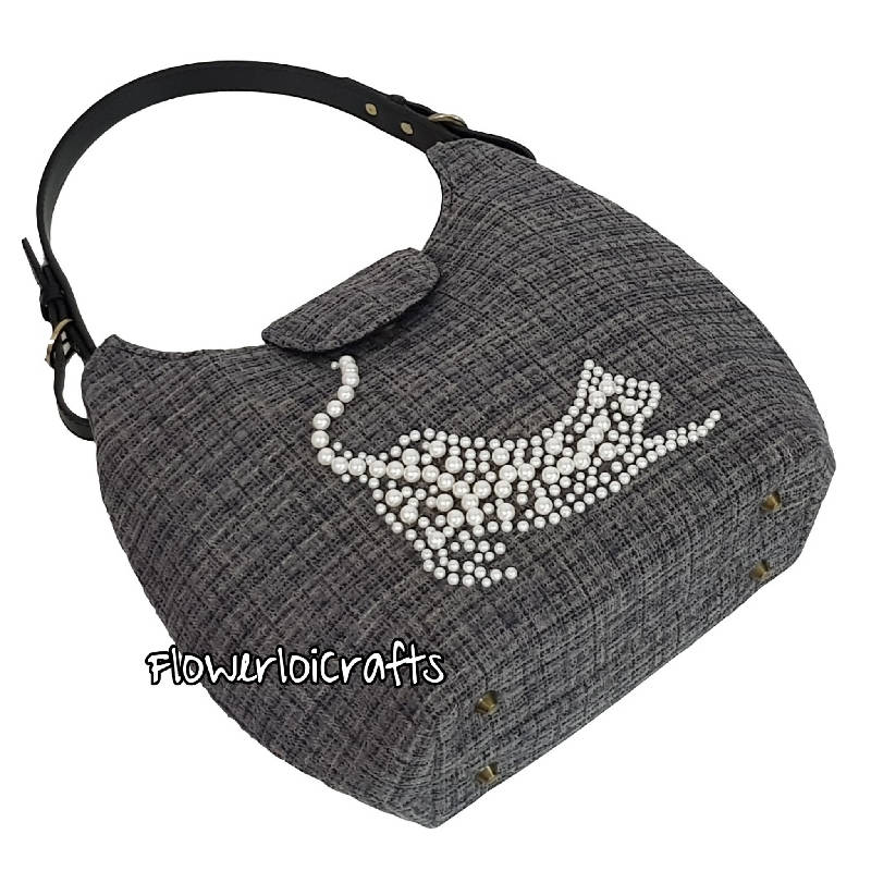 Pearl Cat Hobo Bag