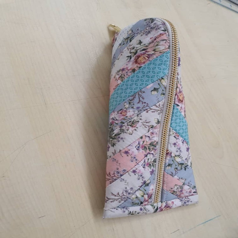 Triangular Patchwork Pouch