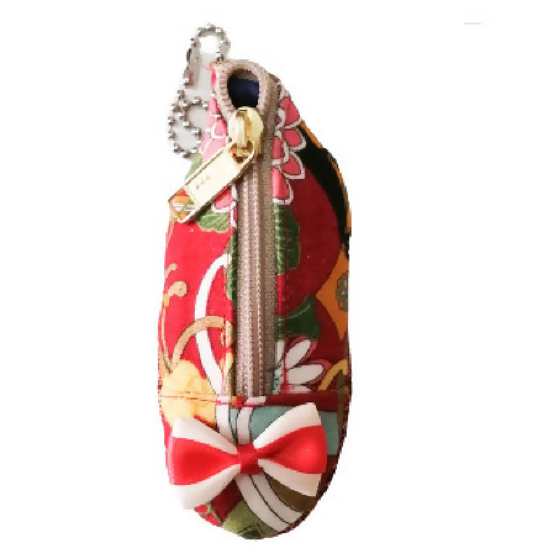 Thumbelina Shoe Coin Pouch 1A (RED FLORAL)