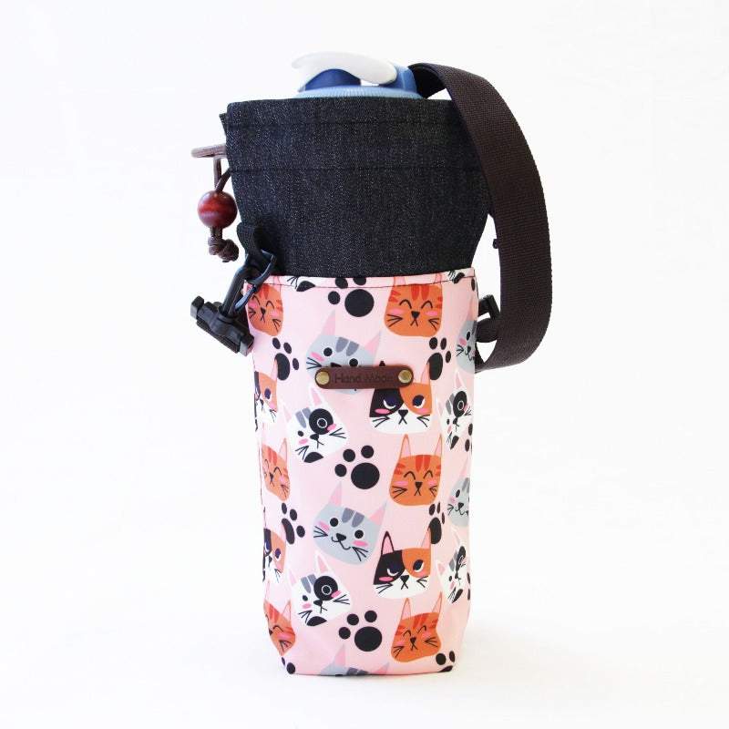 Cute Water Tumbler Cover With Strap