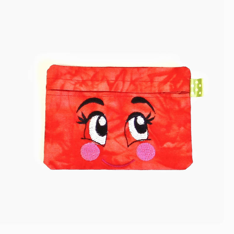 2 in1 Tissue pouch bag with cute eyes