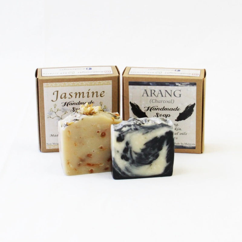 Jasmine & Charcoal Handmade Soap (Set)