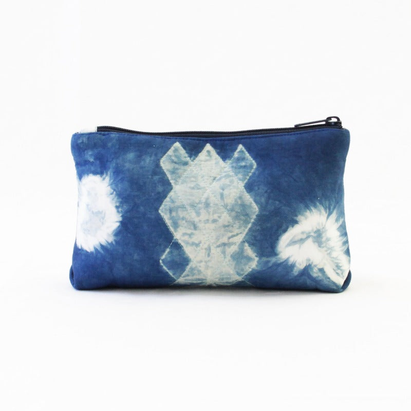 Shibori Indigo Cotton Purse