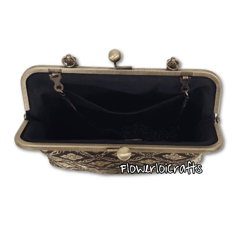 Elegant Songket Framed Bag