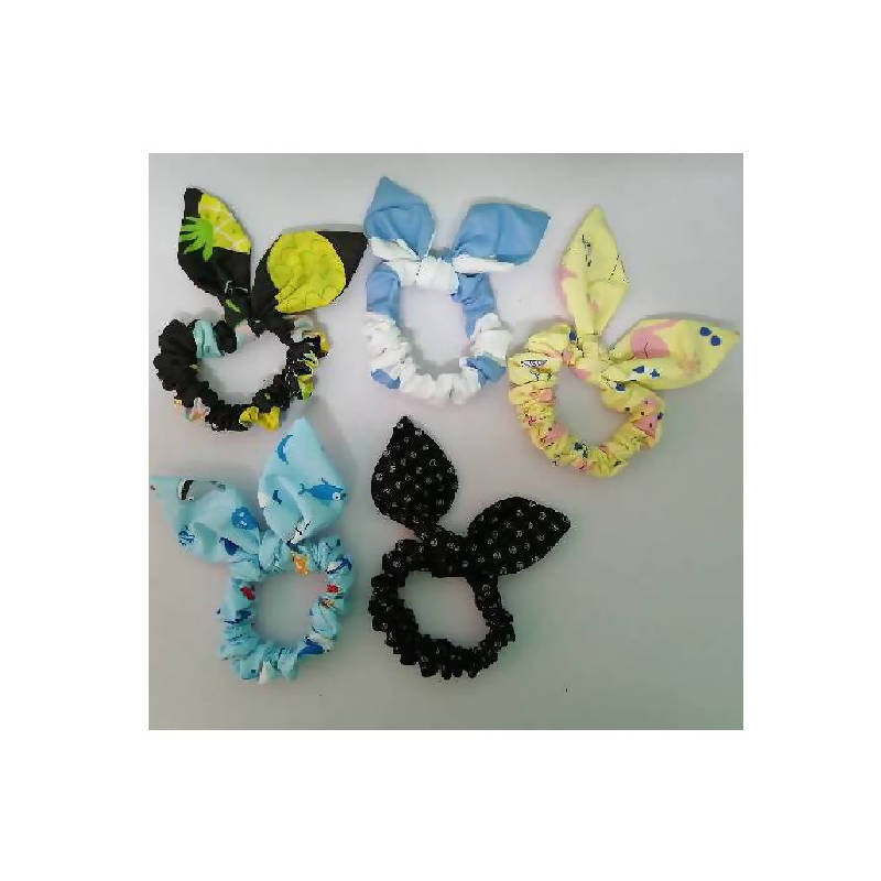 Getah rambut bereben/scrunchie with bow