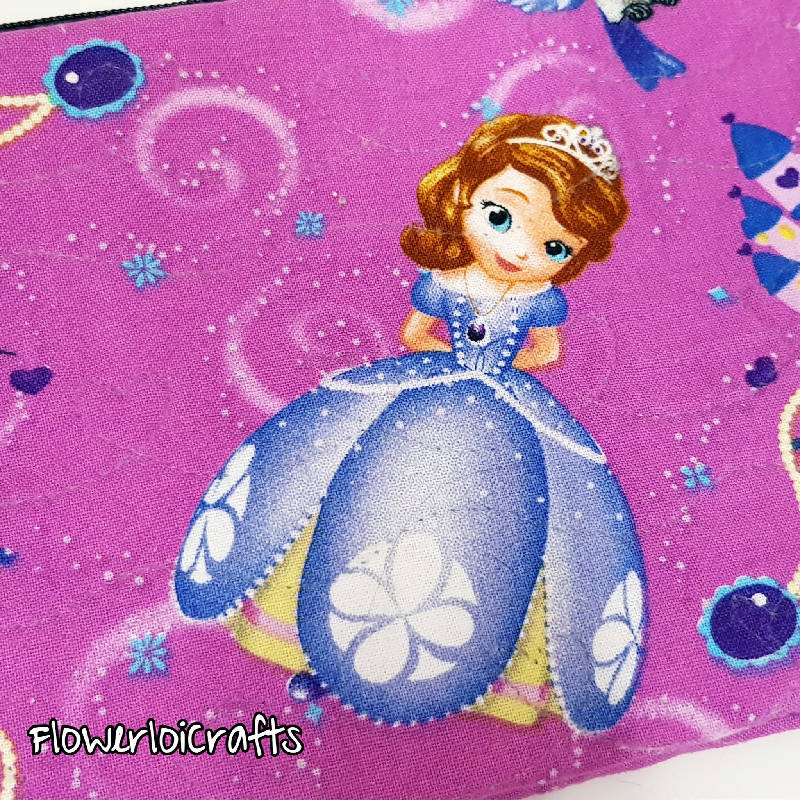 Special Quilted Pencil Case (Princess Sofia)
