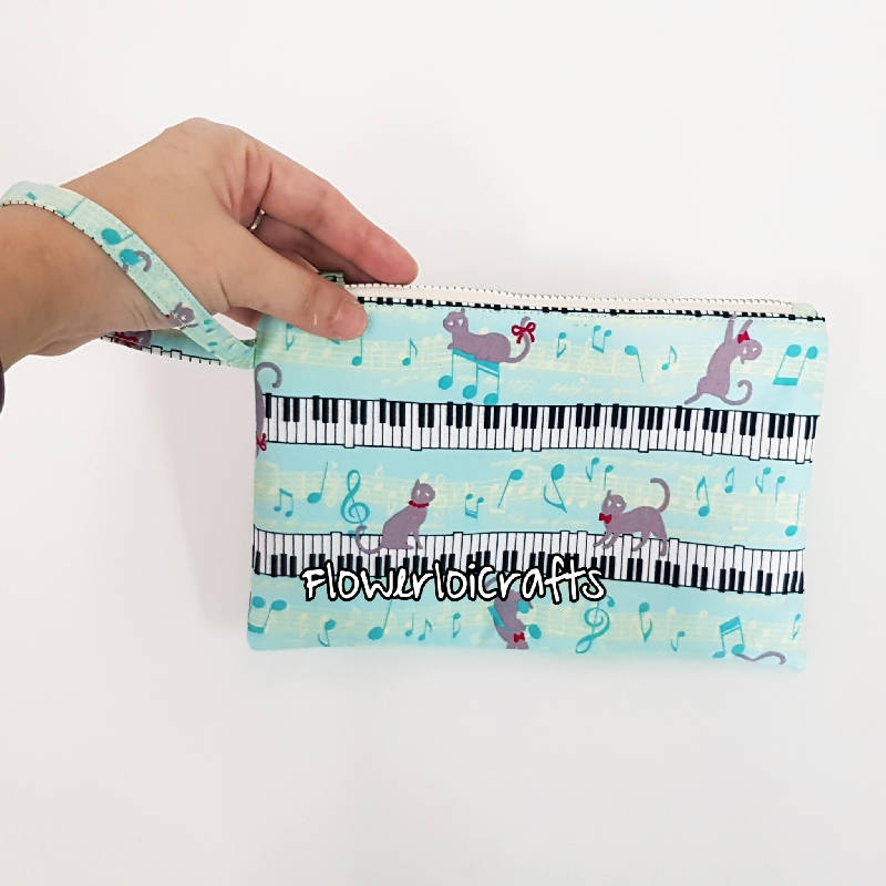 Music Theme Pencil Case/Wristlet