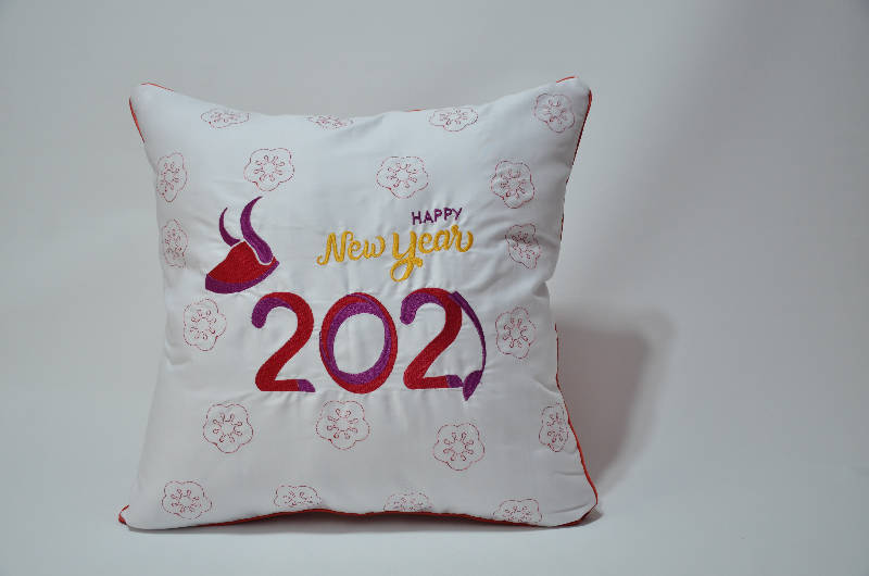 Embroidery Sofa Pillow (Year of Ox 2021)