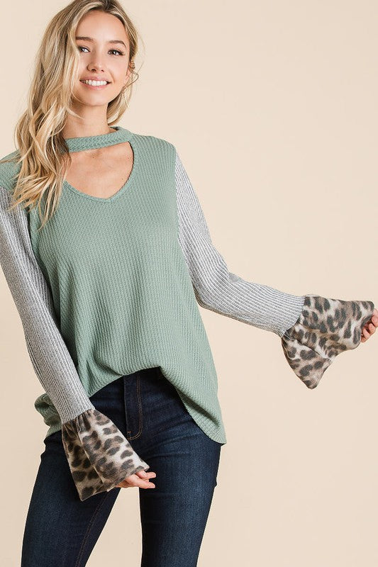 Thermal Top W/ V-Shape Cut Out