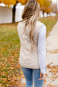 Herringbone Vest - Natural