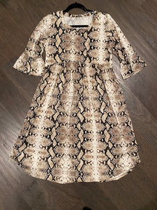 Serpentine Bell Sleeve Dress
