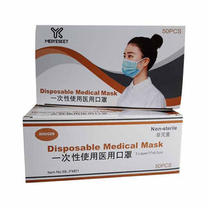Disposable Medical Graded 3 Ply Face Mask With Ear Loops