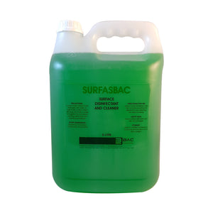 5L SURFASBAC - Surface Disinfectant And Cleaner