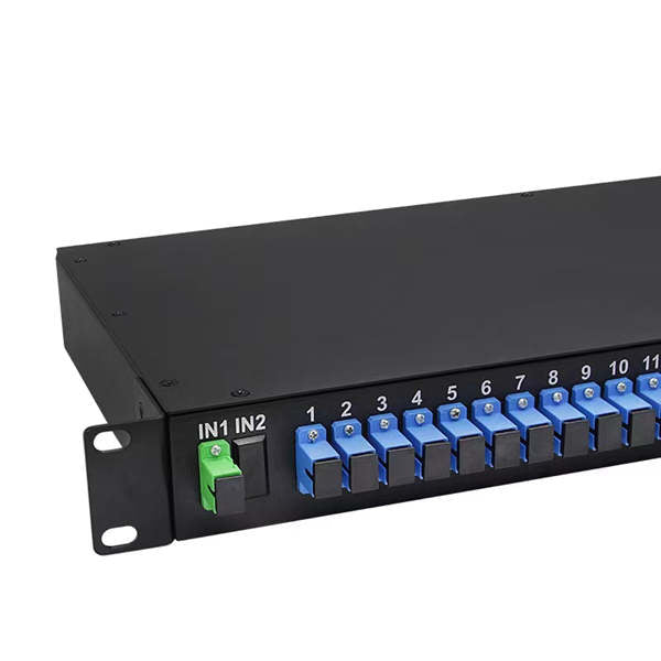 1*32 SC/UPC 1U panel type fiber optic splitter