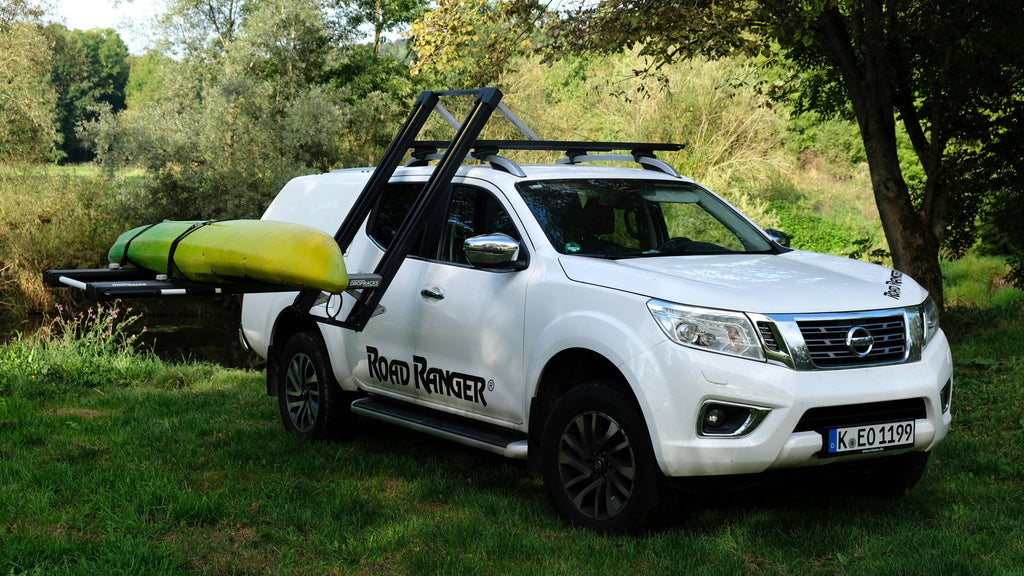 Dropracks elevating lowerable roof rack easy lift kayak