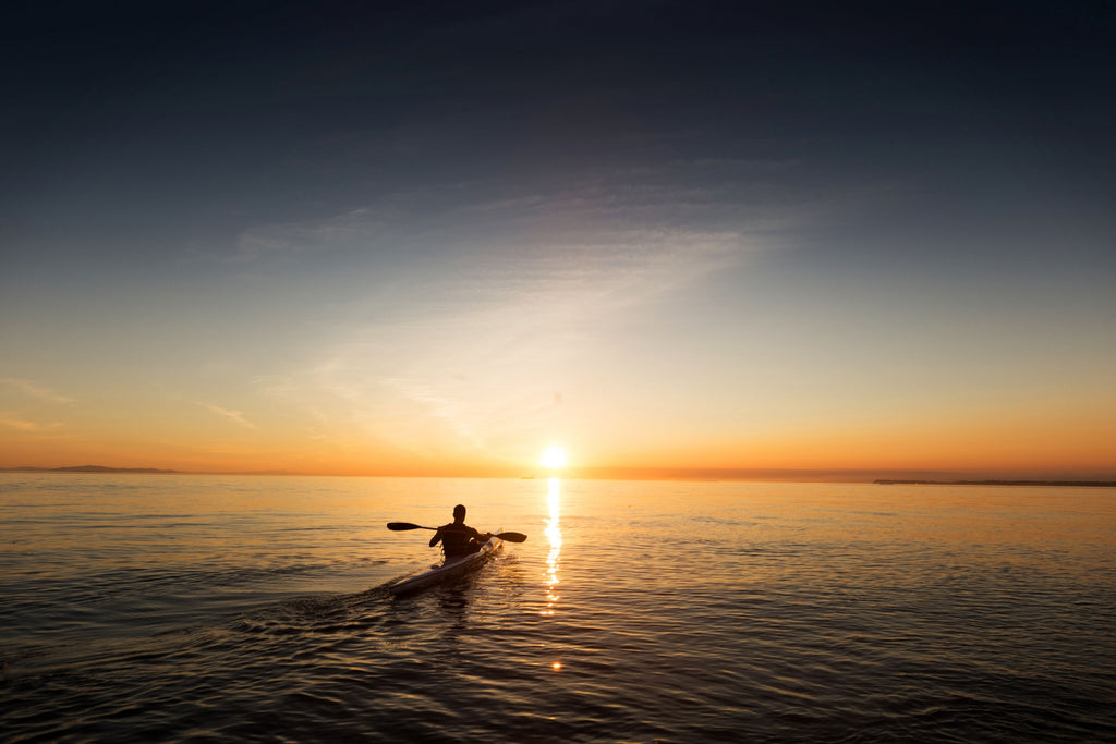 Kayaking in the sunset