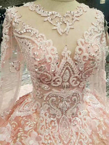 2020 New Arrival Wedding Dresses Lace Up With Appliques And Beading Lace XHMPST14703
