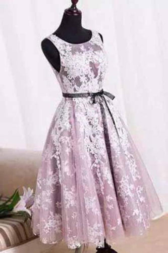 White Homecoming Dress Lace Short Prom Dress Tulle Homecoming Gowns Ball Gown Party XHMPST14490
