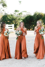 Load image into Gallery viewer, Simple Long Halter Bridesmaid Dresses A-Line Backless Sexy Bridesmaid Dress XHMPST15392