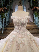 Load image into Gallery viewer, 2020 Gorgeous Wedding Dresses Lace Up Off The Shoulder With Appliques And Handmade XHMPST14580