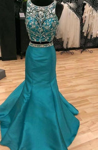 Two Pieces Beading Bodice Floor Length Prom Dresses XHMPST14262