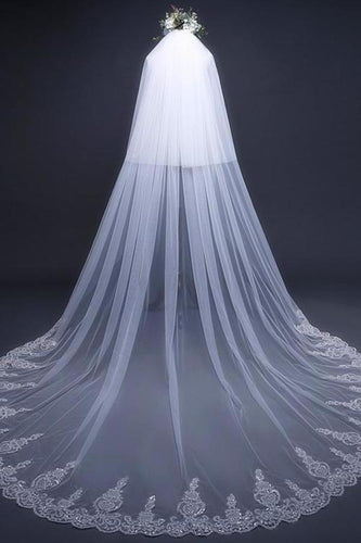 Cathedral Tulle Lace Ivory Wedding Veil Bridal Veil Wedding XHMPST11362